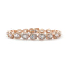 Bentlee Bridal Bracelet - Light Rose Gold - Bracelet Wedding - Roman & French