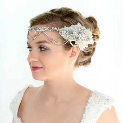 Bernadette Bridal Headpiece - Roman & French  - 2