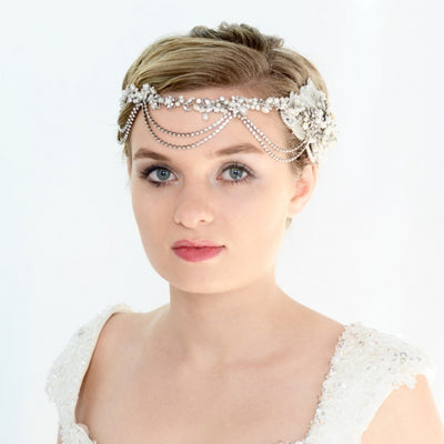 Bernadette Bridal Headpiece - Roman & French  - 1