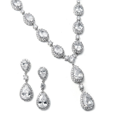 Bethany Bridal Necklace Set - Necklace & Earring Set - Roman & French