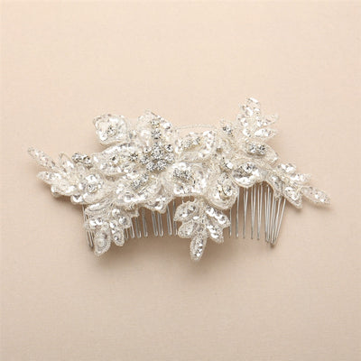 Blondelle Bridal Hair Comb Ivory - Hair Accessories - Hair Comb - Roman & French