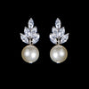 Bocheron Pearl Bridal Earrings - Earrings - Classic Short Drop - Roman & French