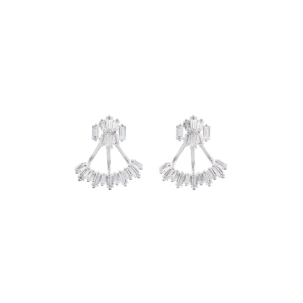 Bowie Bridal Earrings - Earrings - Classic Short Drop - Roman & French