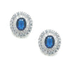 Braelyn Bridal Earrings Blue - Earrings - Glamour Stud - Roman & French