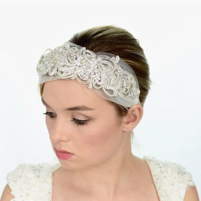 Brandi Bridal Headwrap - Roman & French  - 2
