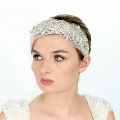 Brandi Bridal Headwrap - Roman & French  - 1