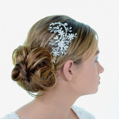 Bridget Bridal Headpiece - Roman & French  - 3