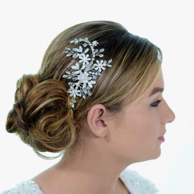 Bridget Bridal Headpiece - Roman & French  - 1