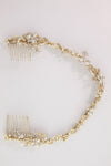 Brielle Bridal Hair Vine - Gold - Hair Accessories - Hair Vine - Roman & French