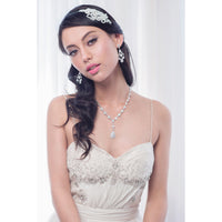 Caden Bridal Headband - Roman & French  - 1