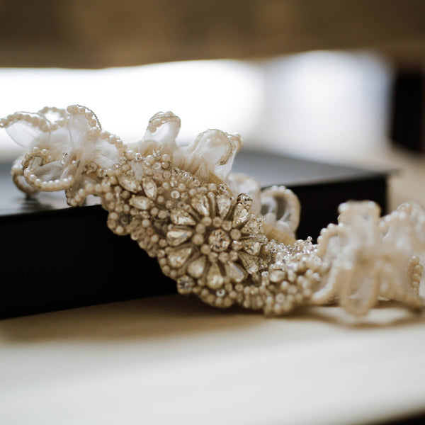 Couture Garters For Wedding: Roman & French