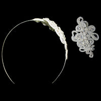 Caden Bridal Headband - Roman & French  - 5