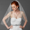 Cadence Bridal Veil - White - Roman & French