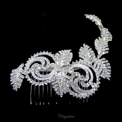 Caitlyn Bridal Headpiece - Hair Accessories - Hair Comb - Roman & French