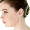 Calinda Bridal Earrings (Rose Gold) - Roman & French  - 1