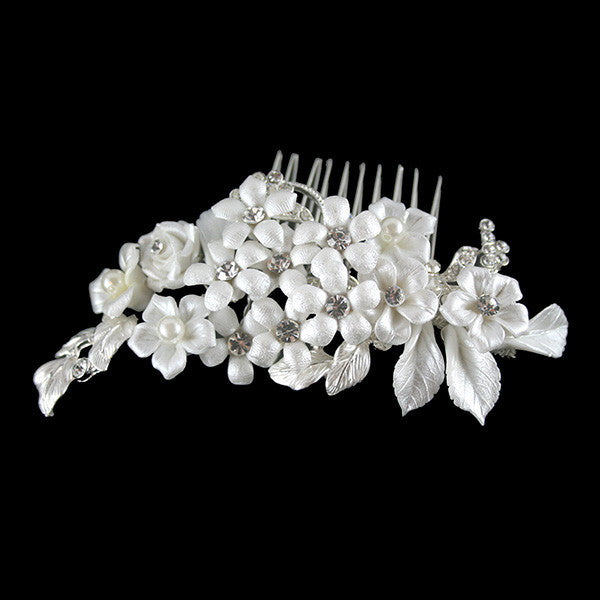 Camelia Bridal Hair Comb - Hair Accessories - Hair Comb - Roman & French