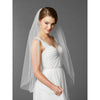 Cammi Bridal Veil - White - Roman & French