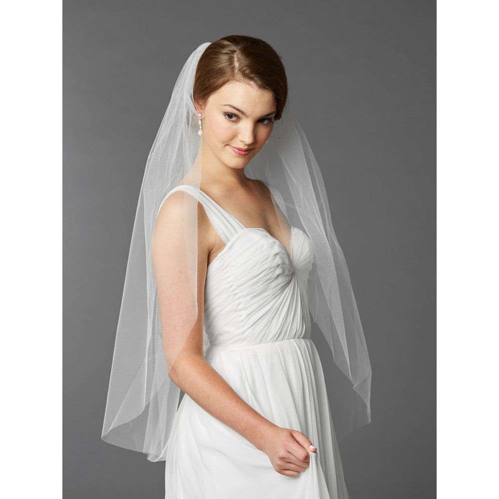 Cammi Bridal Veil - White - Veils - Traditional - Roman & French