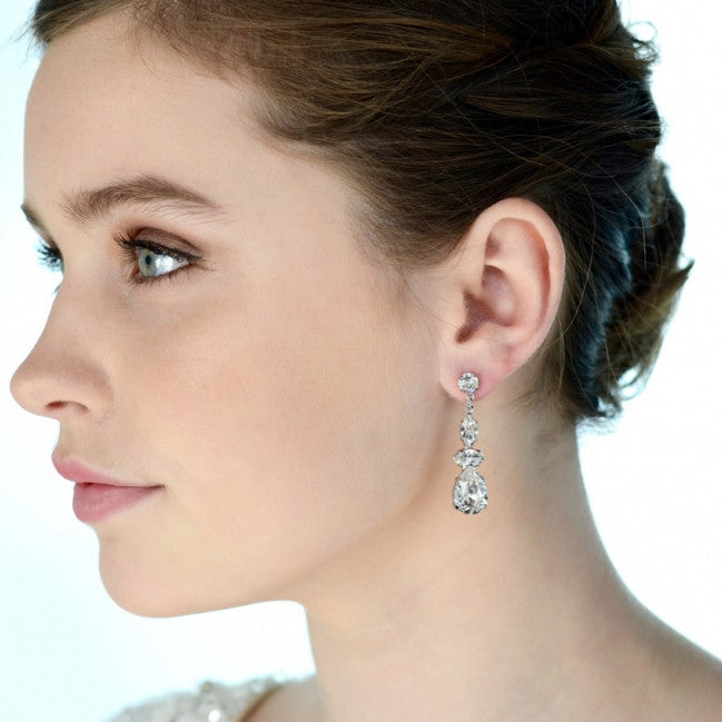 Celestina Bridal Earrings - Roman & French  - 1