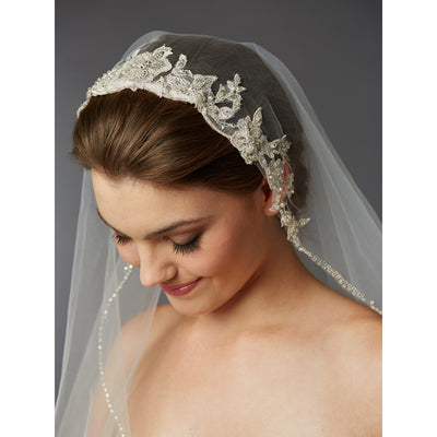 Chanel Bridal Veil (Ivory) - Roman & French  - 2