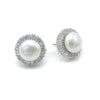 Chavanon Bridal Earrings - Flat Pearls - Earrings - Glamour Stud - Roman & French