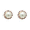 Chavanon Bridal Earrings - Flat Pearls Rose Gold