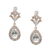 Chelles Bridal Earrings - Rose Gold - Roman & French