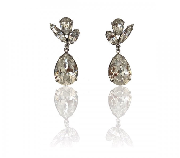 Chios Bridal Drop Large Earrings
