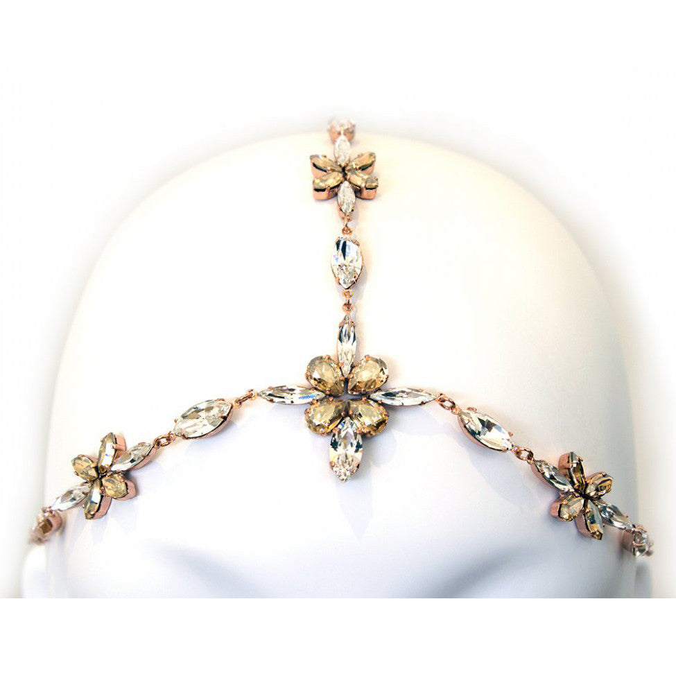 Chios Bridal Halo - Hair Accessories - Bohemian Halo, Circlet - Roman & French