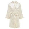 Chloe - Ivory Satin Robe (Personalised)