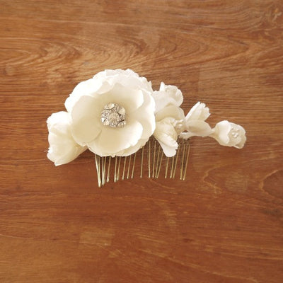 Claire Bridal Flower Headpiece - Hair Accessories - Flowers - Roman & French