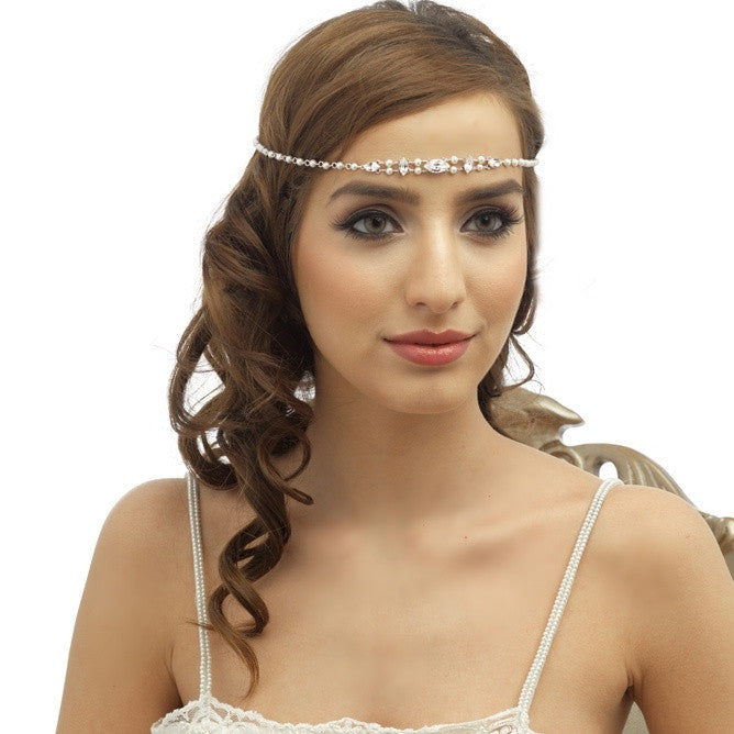 Corey Bridal Halo - Hair Accessories - Bohemian Halo, Circlet - Roman & French