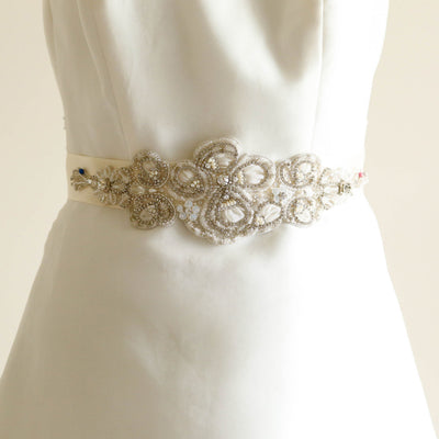 Cornflower Bridal Sash - Bridal Sash - Roman & French