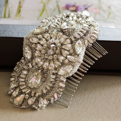Dahlia Bridal Hair Comb - Hair Accessories - Hair Comb - Roman & French
