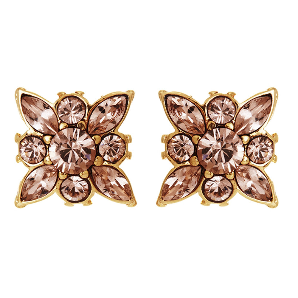 Deedee Bridal Earrings - Rose Gold - Earrings - Glamour Stud - Roman & French