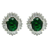 Devaux Earrings (Green) - Roman & French