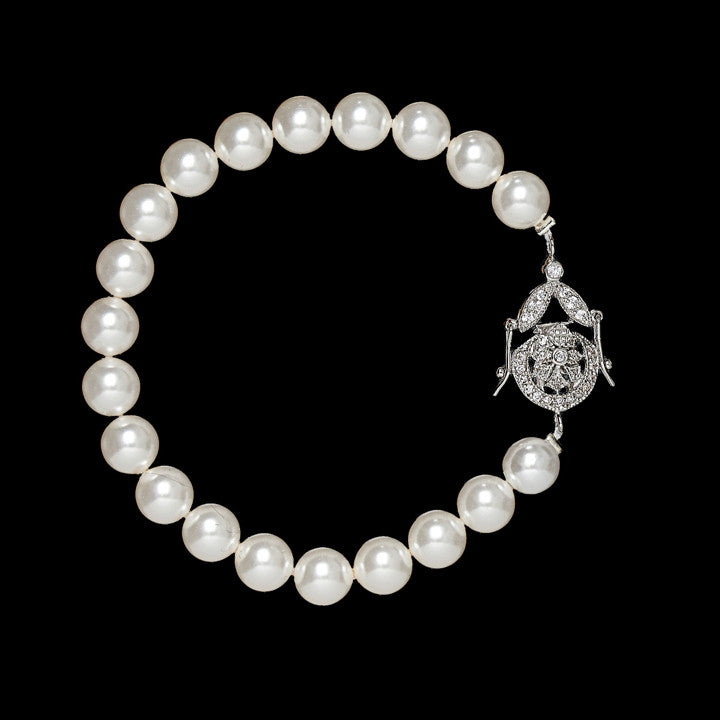 Diademe Pearl Bridal Bracelet - Bracelet Wedding - Roman & French