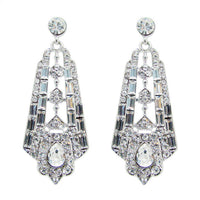 Reginesse Bridal Earrings - Earrings - Long Drop - Roman & French