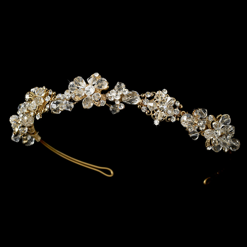 Elene Bridal Headband (Gold)