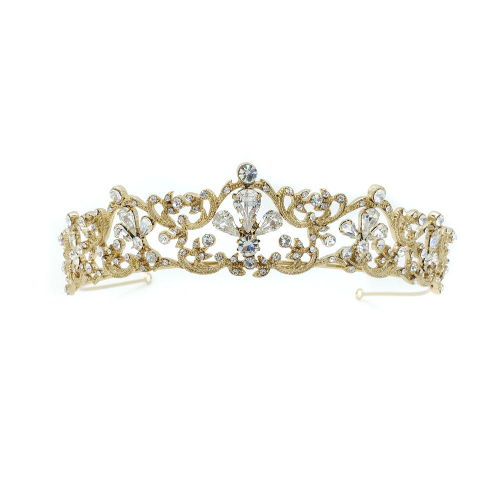Elliott Bridal Tiara (Gold Only Available) - Hair Accessories - Tiara & Crown - Roman & French