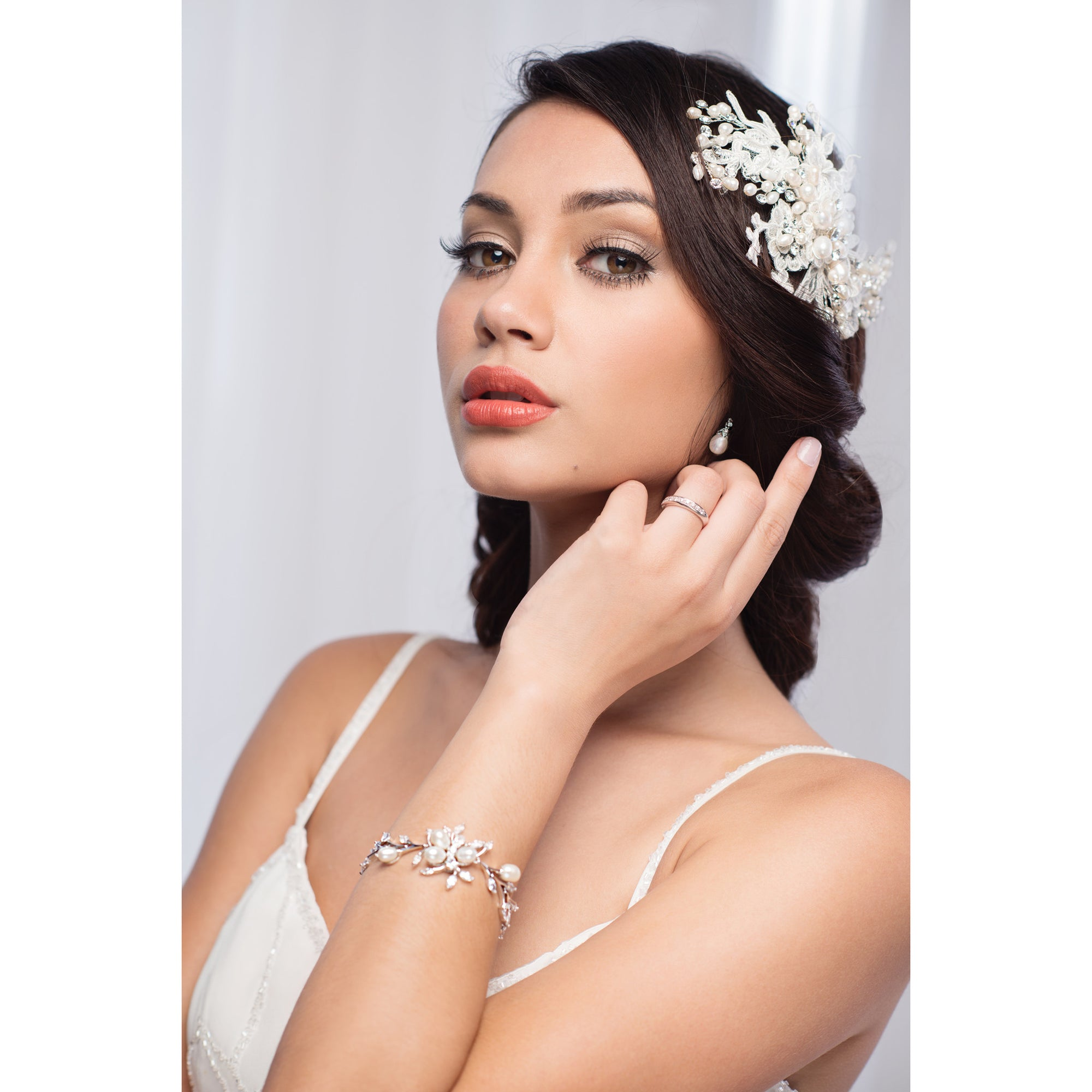 Fernanda Bridal Headpiece - Roman & French  - 1