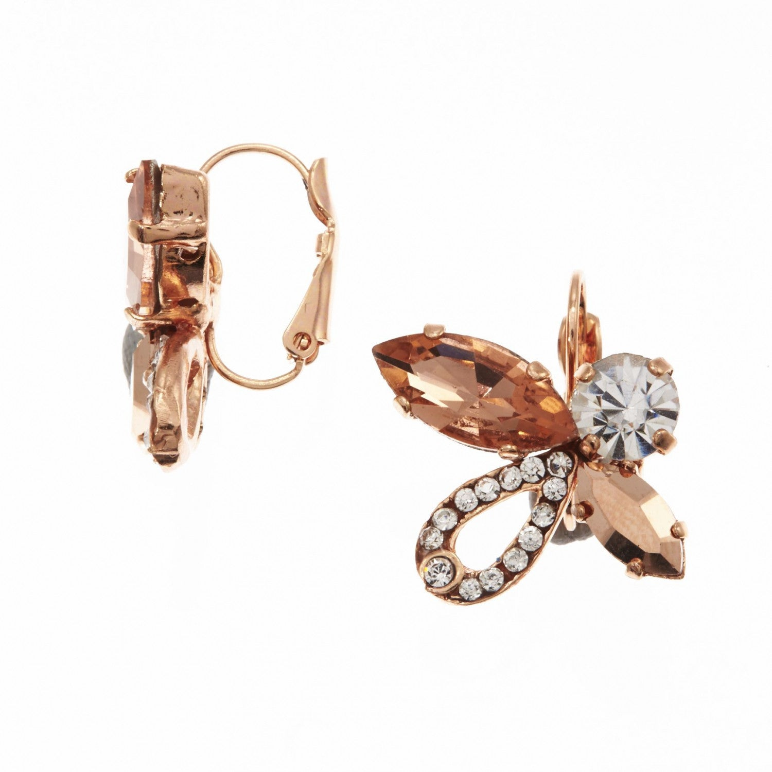 Flaming Earrings (Rose Gold) - Roman & French