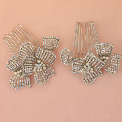 Frankie Bridal Hair Combs - Hair Accessories - Hair Comb - Roman & French