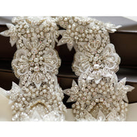 Geranium Bridal Sash - Roman & French  - 2