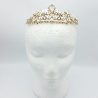 Gray Bridal Tiara - Gold - Hair Accessories - Tiara & Crown - Roman & French