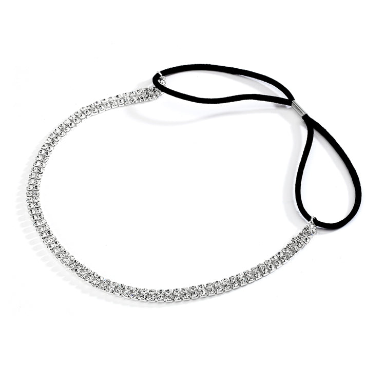 Hayley Bridal Headband (Silver)