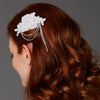 Helaine Bridal Hair Comb - White - Roman & French  - 1