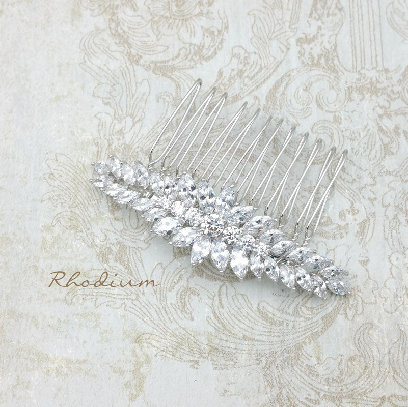Houston Bridal Hair Comb - Roman & French