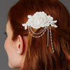 Helaine Bridal Hair Comb - Ivory - Roman & French  - 1