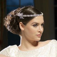 Irma Bridal Headpiece - Roman & French  - 3